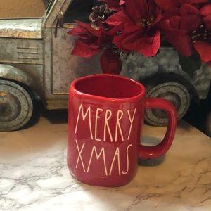 Rae Dunn Red  MERRY XMAS Christmas Mug